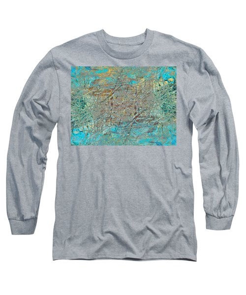 Long Sleeve T-Shirt featuring the photograph Cool Blue Tangle by Stephanie Grant