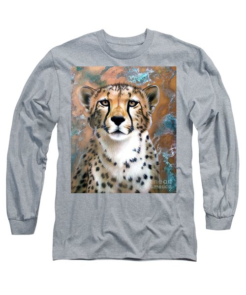 Copper Flash - Cheetah Long Sleeve T-Shirt by Sandi Baker
