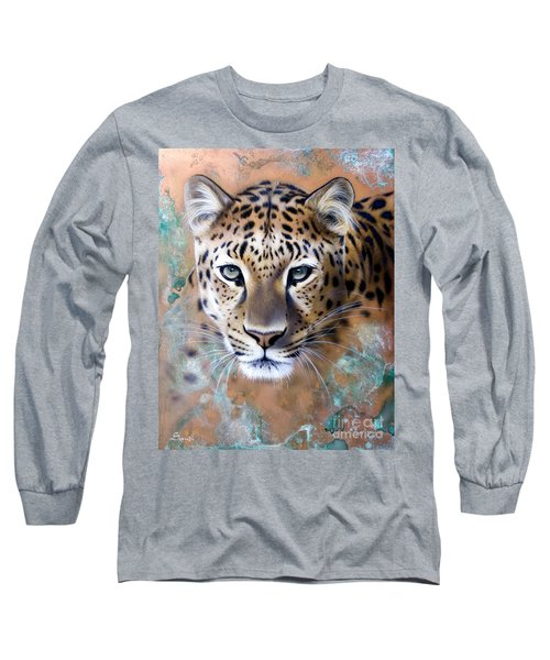 Copper Stealth - Leopard Long Sleeve T-Shirt by Sandi Baker