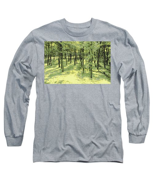Copse Of Trees Sunlight Long Sleeve T-Shirt