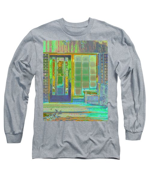 Long Sleeve T-Shirt featuring the photograph Cottage Porch by Don and Judi Hall