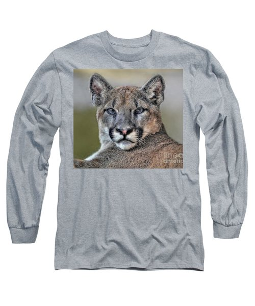 Long Sleeve T-Shirt featuring the photograph Cougar  by Savannah Gibbs