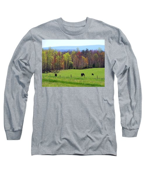 Long Sleeve T-Shirt featuring the photograph Countryside In Spring by Kathryn Meyer