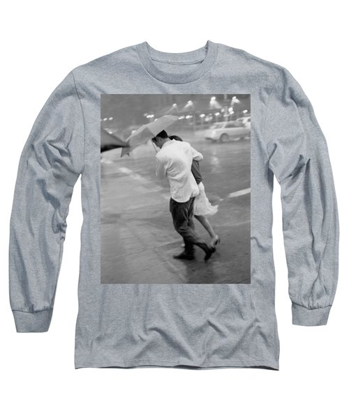 Couple In The Rain Long Sleeve T-Shirt