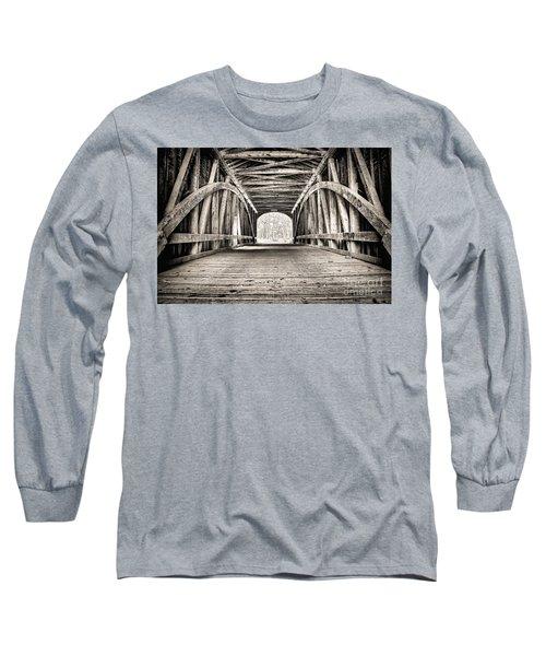 Covered Bridge B N W Long Sleeve T-Shirt