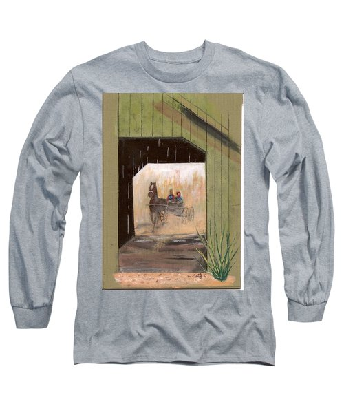Covered Bridge Long Sleeve T-Shirt by Catherine Swerediuk