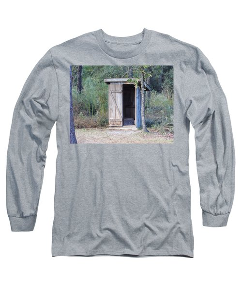 Cracker Out House Long Sleeve T-Shirt by D Hackett
