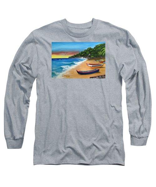 Crashboat Beach Wonder Long Sleeve T-Shirt by Luis F Rodriguez