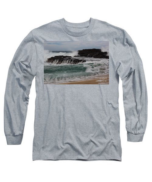Long Sleeve T-Shirt featuring the photograph Crashing Surf by Suzanne Luft