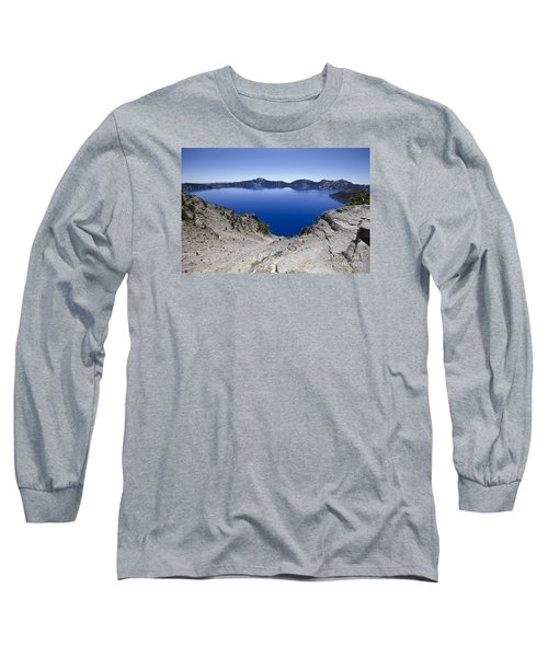 Crater Lake Long Sleeve T-Shirt by David Millenheft