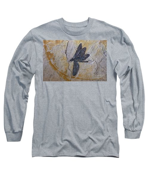 Cretaceous Dragonfly Fossil Long Sleeve T-Shirt