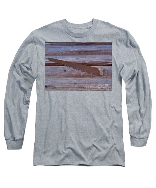 Crosscut Saw Long Sleeve T-Shirt by D Hackett