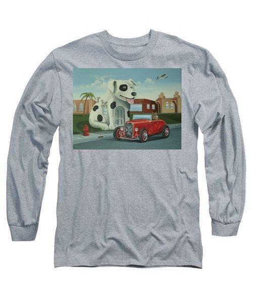 Cruisin' At The Pup Cafe Long Sleeve T-Shirt