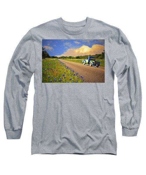 Crusin' The Hill Country In Spring Long Sleeve T-Shirt