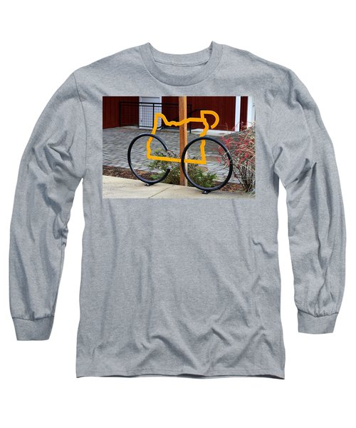 Cycle Oregon Long Sleeve T-Shirt by Kevin Desrosiers