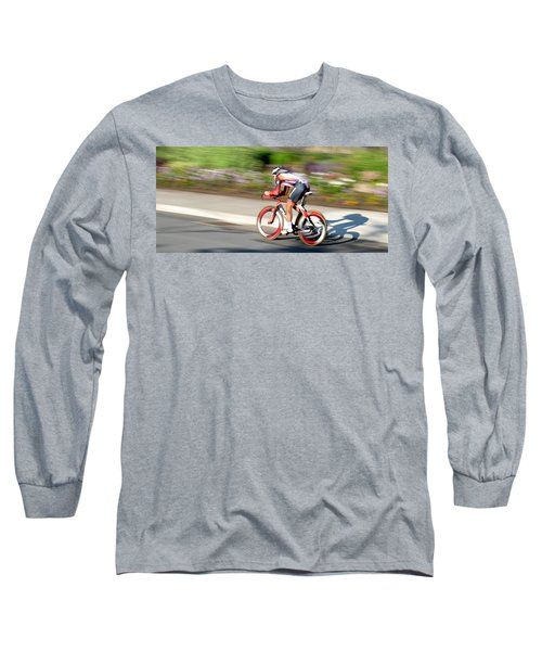 Cyclist Time Trial Long Sleeve T-Shirt by Kevin Desrosiers