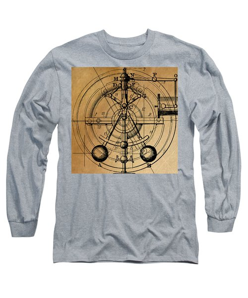 Long Sleeve T-Shirt featuring the painting Cyclotron by James Christopher Hill