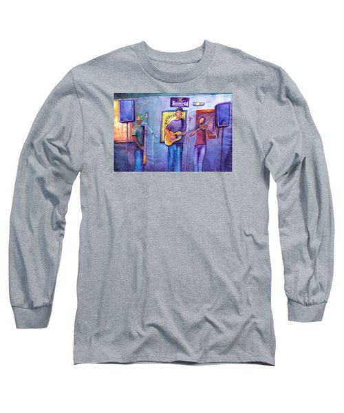 Long Sleeve T-Shirt featuring the painting Damnation At The Cala by David Sockrider