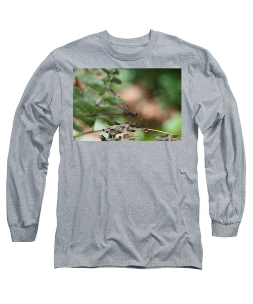 Damselfly Long Sleeve T-Shirt by Neal Eslinger