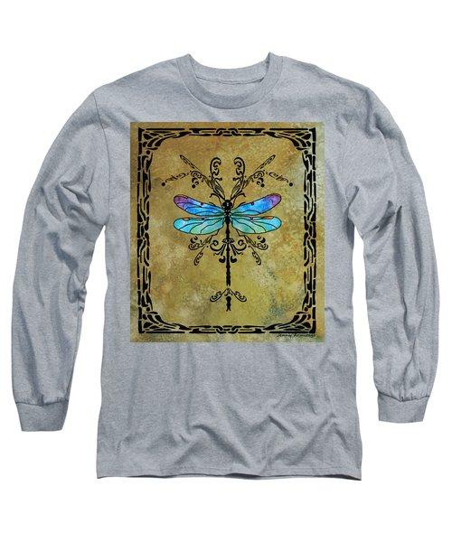 Damselfly Nouveau Long Sleeve T-Shirt