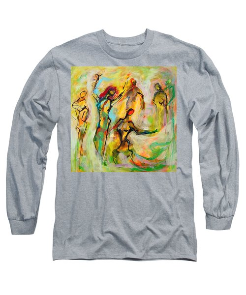 Dancers Long Sleeve T-Shirt by Mary Schiros