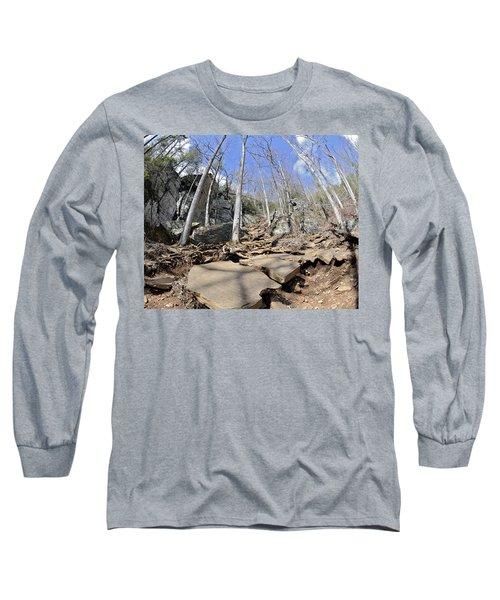 Dangerous Hiking Trail Long Sleeve T-Shirt
