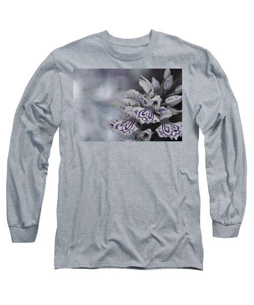 Dark Angel Of Flowers Long Sleeve T-Shirt