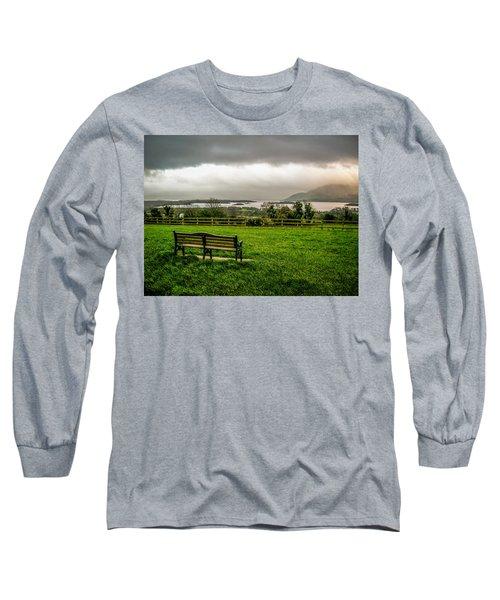 Dark Clouds Over Killarney Lakes Long Sleeve T-Shirt