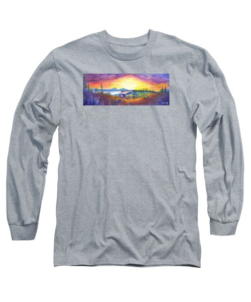 Long Sleeve T-Shirt featuring the painting Dark Star Orchestra Dillon Amphitheater by David Sockrider