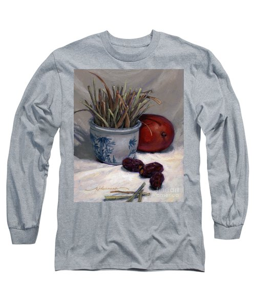Dates Lemongrass And Mango Long Sleeve T-Shirt