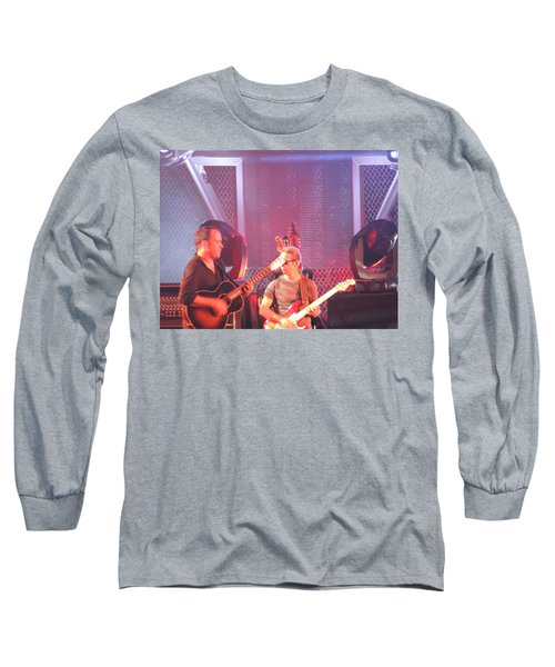 Long Sleeve T-Shirt featuring the photograph Dave And Tim Jam On The Guitar by Aaron Martens