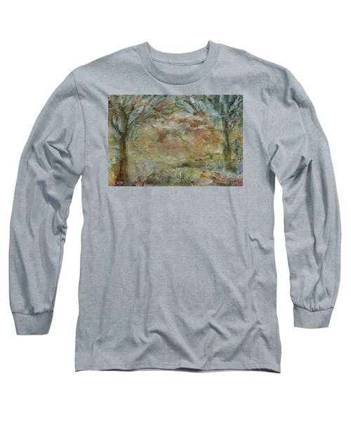 Long Sleeve T-Shirt featuring the painting Dawn 2 by Mary Wolf