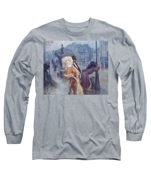 Dawn Leaving The Restaurant In Montmartre Long Sleeve T-Shirt