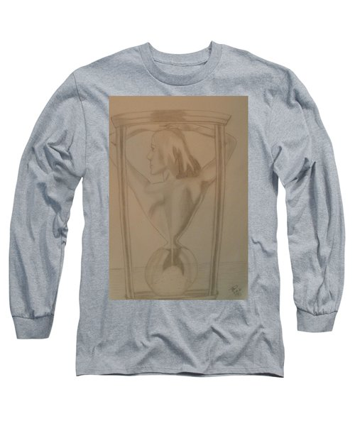 Long Sleeve T-Shirt featuring the drawing Days Of Our Lives by Thomasina Durkay
