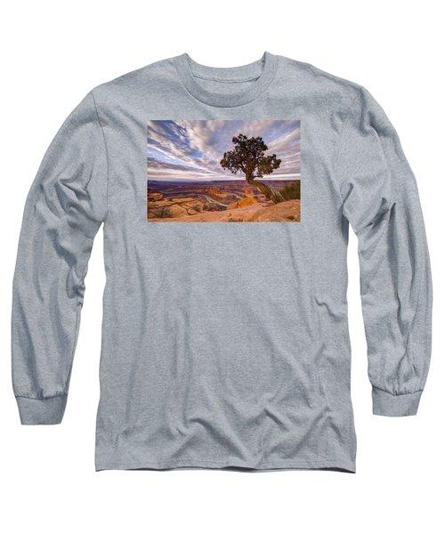 Dead Horse Point Sunrise Long Sleeve T-Shirt by Dustin  LeFevre