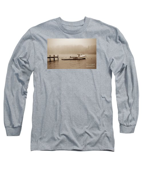 Deadrise Waiting Long Sleeve T-Shirt by Skip Willits