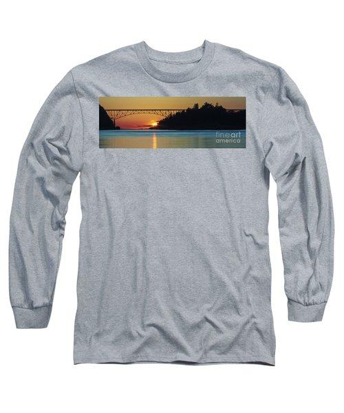Deception Pass Bridge Sunset Long Sleeve T-Shirt