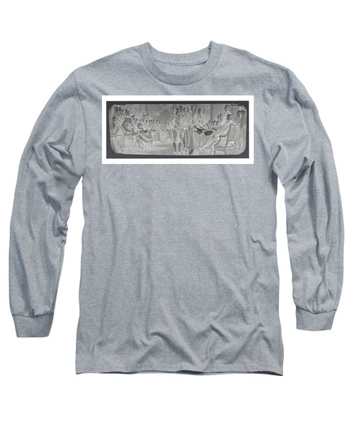 Declaration Of Independence In Negative Long Sleeve T-Shirt