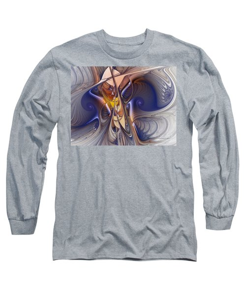 Delicate Spiral Duo In Blue Long Sleeve T-Shirt