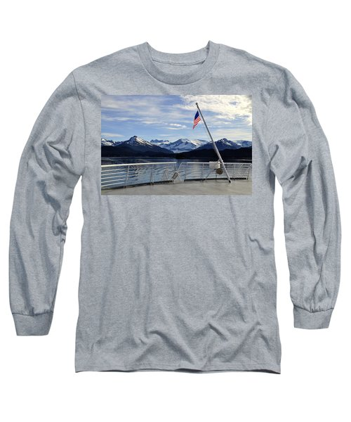 Departing Auke Bay Long Sleeve T-Shirt by Cathy Mahnke
