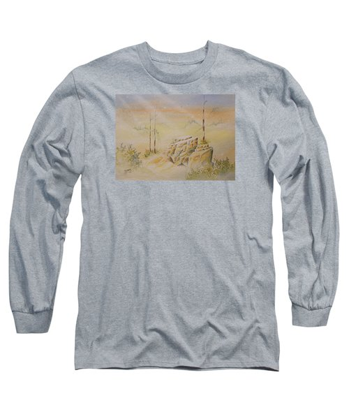 Long Sleeve T-Shirt featuring the painting Deschutes Canyon by Richard Faulkner