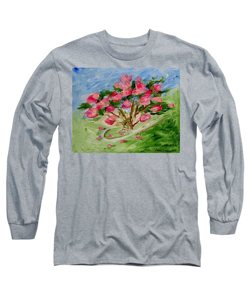 Desert Rose Abstract Long Sleeve T-Shirt by Jamie Frier