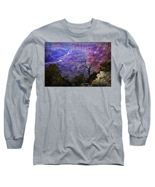 Desert View Sunset Long Sleeve T-Shirt by Priscilla Burgers