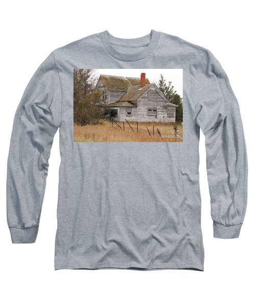 Deserted House Long Sleeve T-Shirt by Mary Carol Story