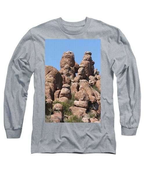 Devils Canyon Wall Long Sleeve T-Shirt by Tom Janca