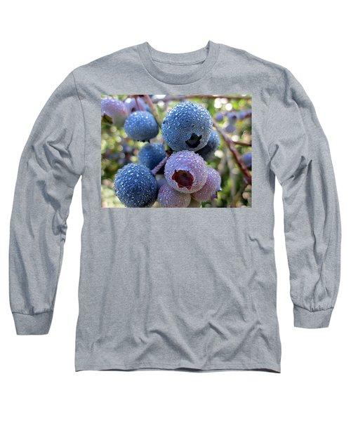 Dewy Blueberries Long Sleeve T-Shirt