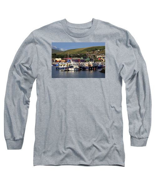 Dingle Harbour County Kerry Ireland Long Sleeve T-Shirt by Aidan Moran