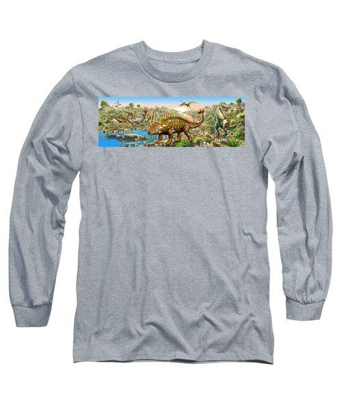 Dinosaur Panorama Long Sleeve T-Shirt