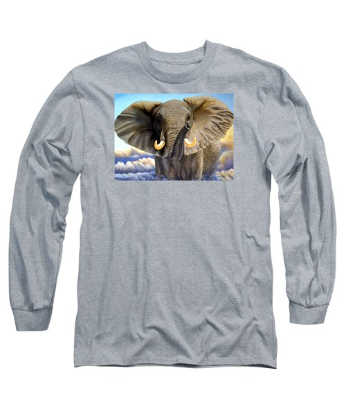 Da108 Distant Thunder By Daniel Adams Long Sleeve T-Shirt
