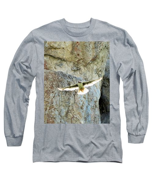 Diving Falcon Long Sleeve T-Shirt